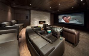 Home Cinema with custom acoustic panels