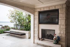 Weatherproof TV adds to Outdoor Entertaining