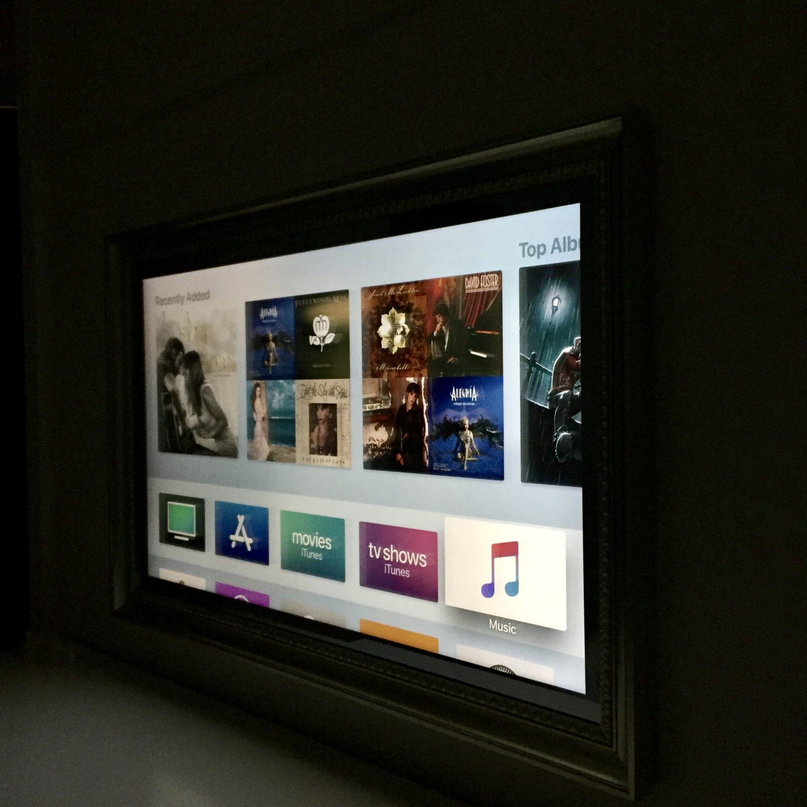 Mirror TV by night