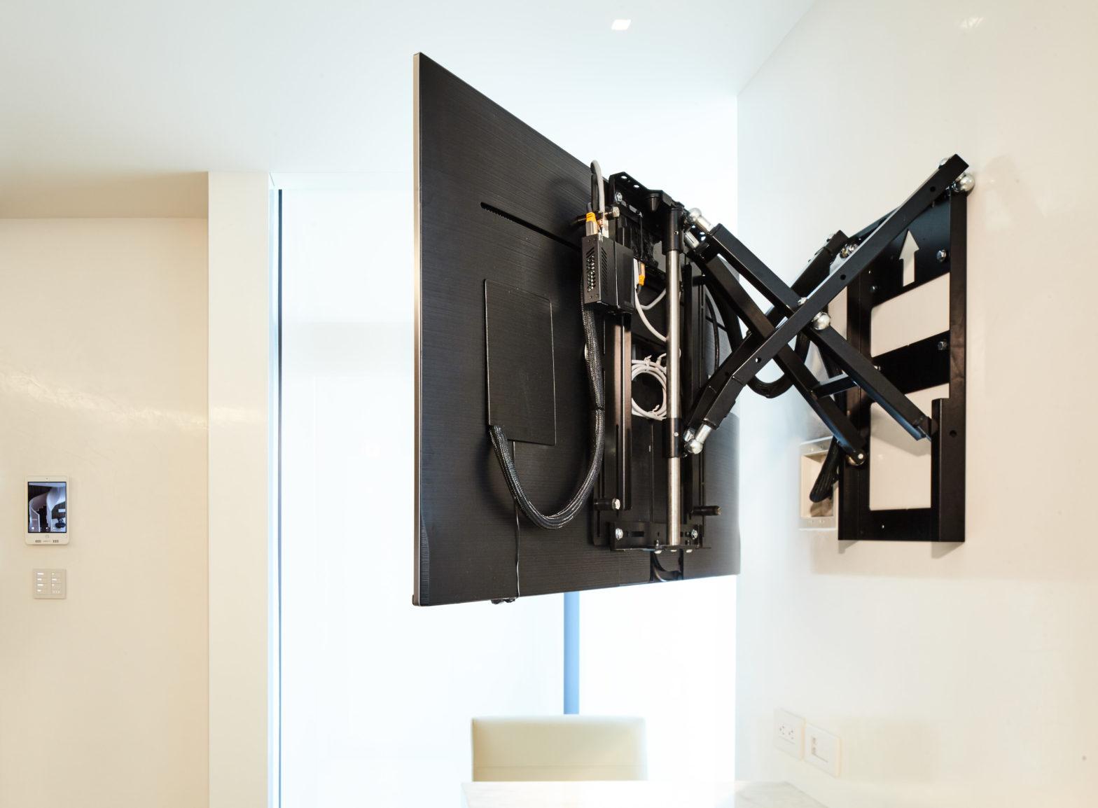 Motorized TV mount